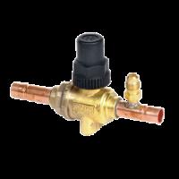 Шаровый вентиль со впаянным сервисным вентилем Castel 6590/5A